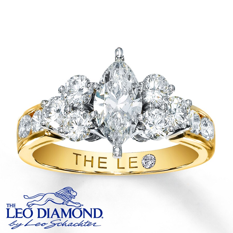 Kay Leo Diamond Ring 1 34 Carats tw 14K TwoTone Gold