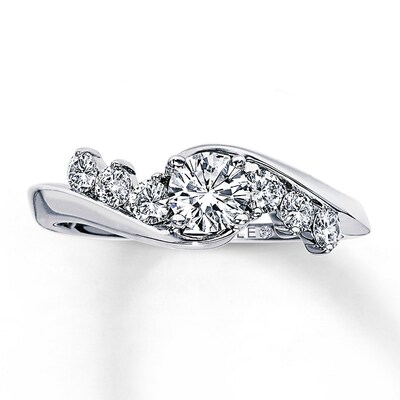 Leo Engagement Ring 3/4 ct tw Diamonds 14K White Gold The Leo Diamond