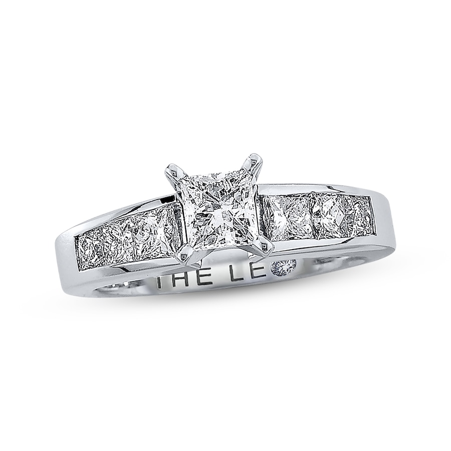 Email Leo Diamond Ring 1 12 ct tw Princess-cut 14K White Gold