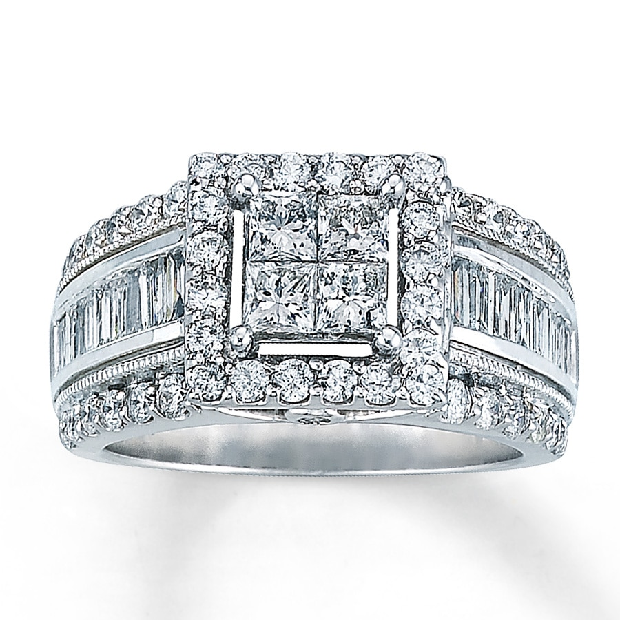 Kay Diamond Ring 2 ct tw Princesscut 14K White Gold