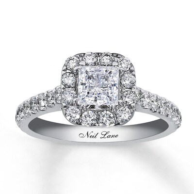 Neil Lane Bridal Ring 1-1/2 ct tw Diamonds 14K White Gold