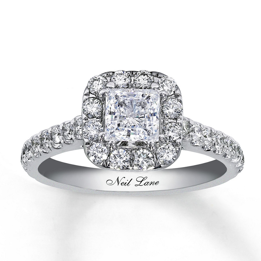 kay - neil lane bridal ring 1-1/2 ct tw diamonds 14k white gold