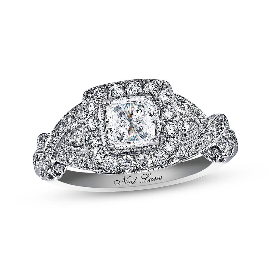 Kay Neil Lane Engagement Ring 1 3 8 ct tw Diamonds 14K White Gold