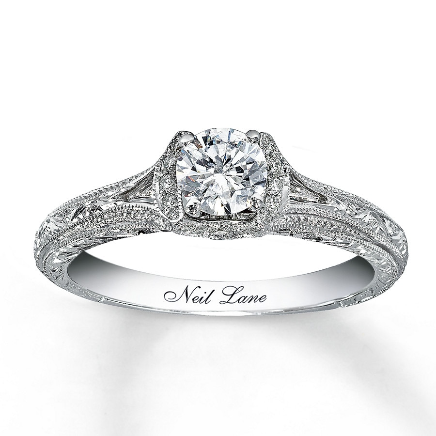 kay - neil lane bridal ring 5/8 ct tw diamonds 14k white gold