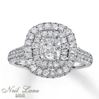 Neil Lane Bridal Ring 1 7/8 ct tw Diamonds 14K White Gold