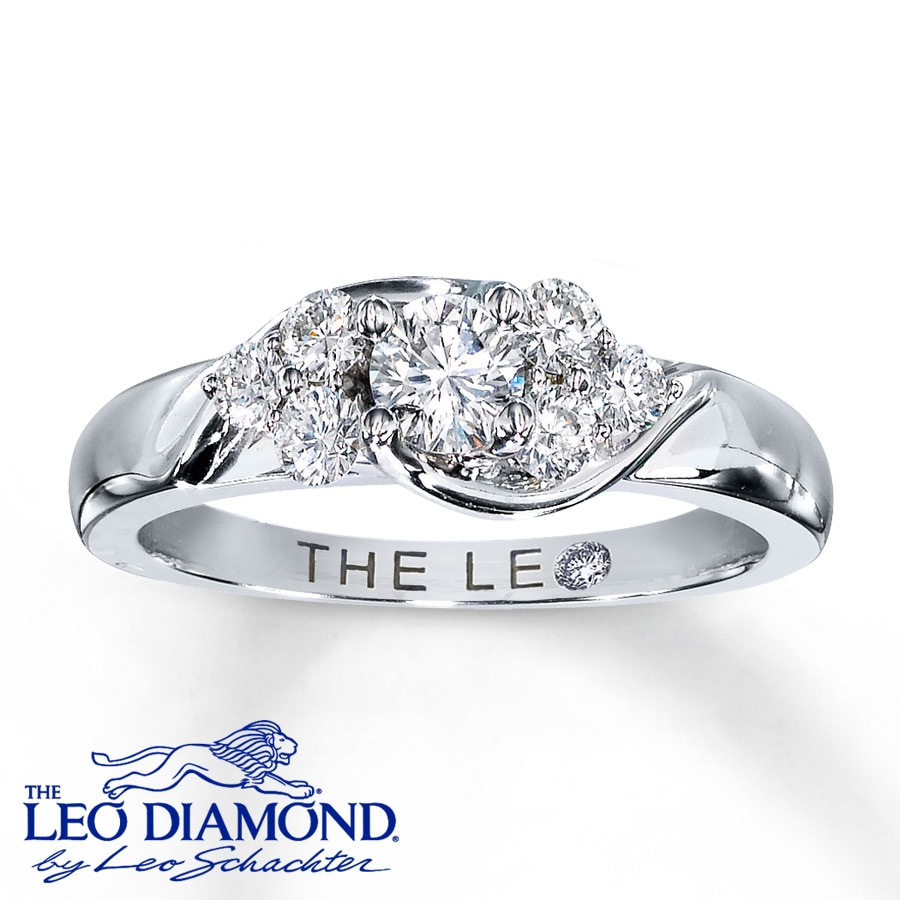 Kay Leo Diamond Ring 58 ct tw Roundcut 14K White Gold