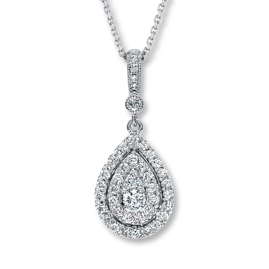 neil earrings neil necklace 1 2 ct tw diamonds 14k white gold 9945