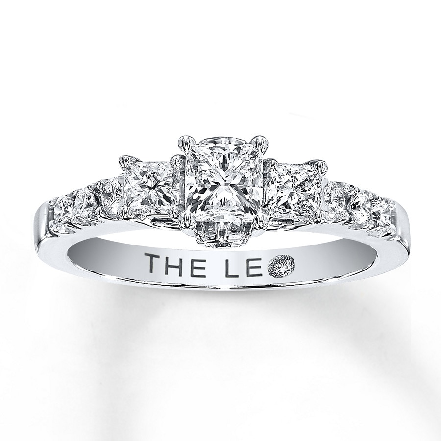 Email Leo Engagement Ring 78 ct tw Diamonds 14K White Gold