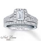 Neil Lane Bridal 1 5/8 ct tw Diamonds 14K White Gold Bridal Set