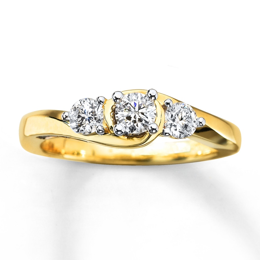 rings w gold white engagement matching cut stone princess wedding band four diamond