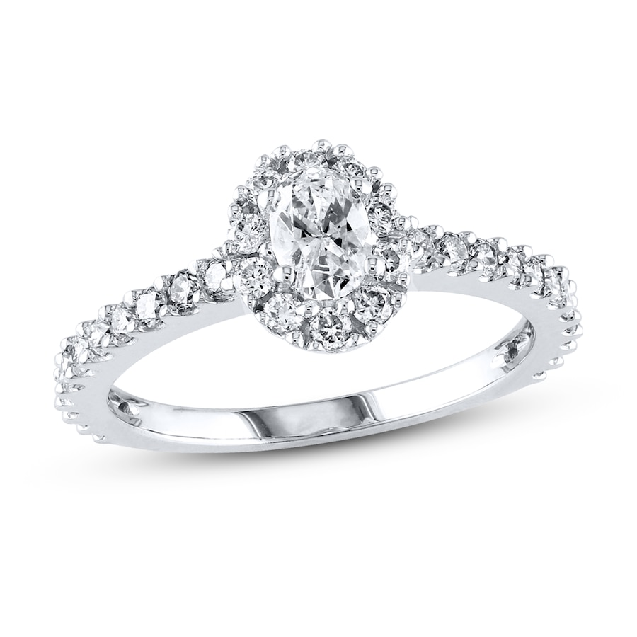 Kay diamond engagement ring 1 carat tw 14k white gold for Kay jewelers wedding ring