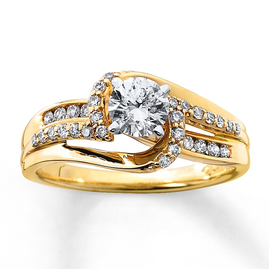 Wedding Rings Kay: Diamond Engagement Ring 5/8 Ct Tw Round-cut 14K Yellow