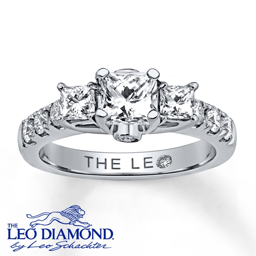 modern ring the happy leo newlyweds diamond rings engagement zm wedding mv