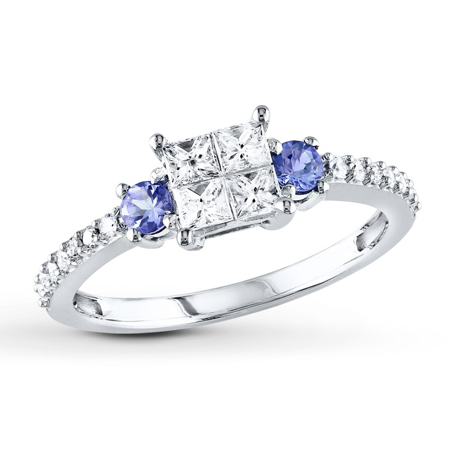 women wedding bands rings pin silver for sterling violette moncoeur engagement promise tanzanite ring