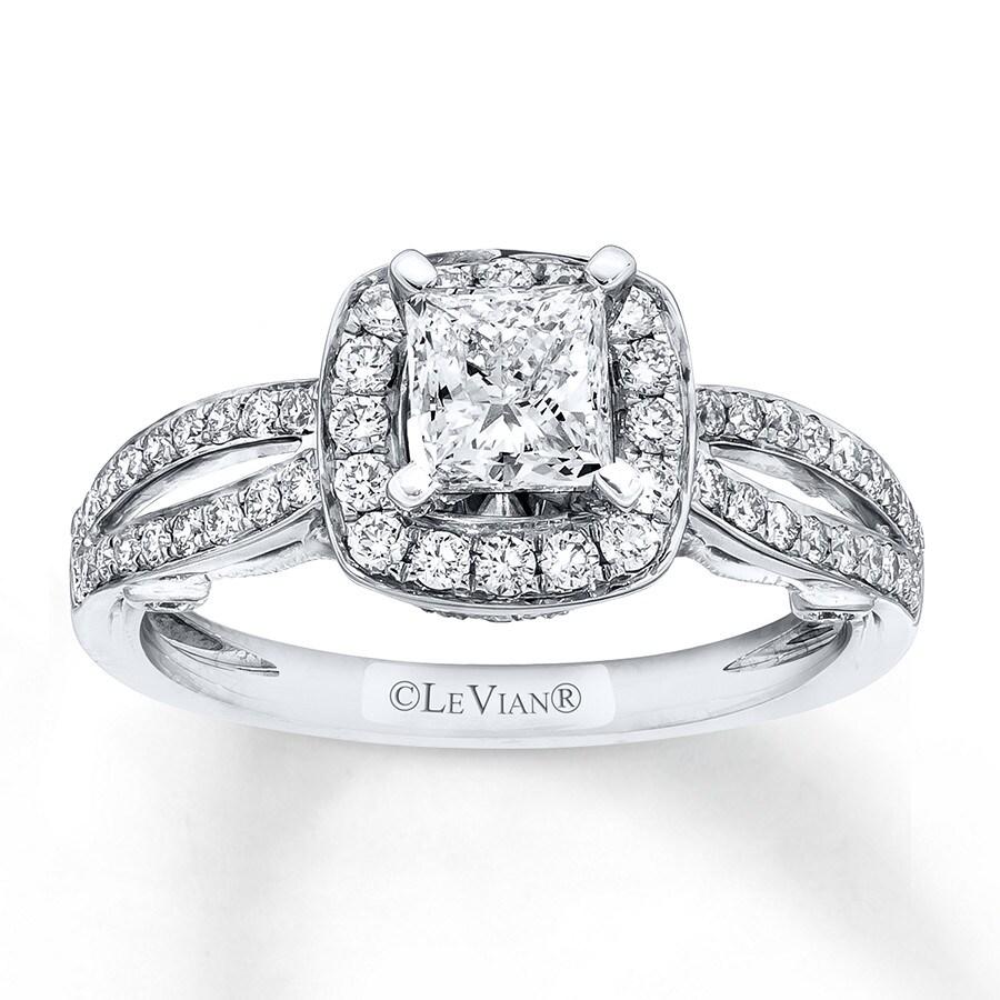 le vian engagement ring 1 1 8 ct tw diamonds 14k