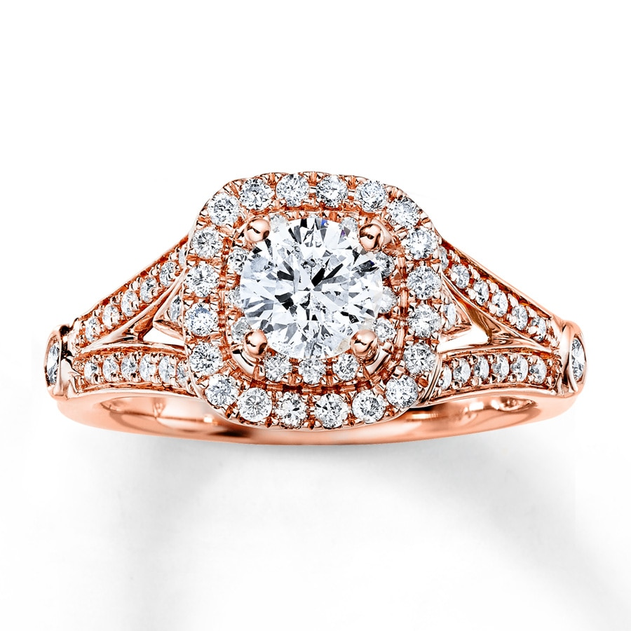 Kay Diamond Engagement Ring 1 1 5 ct tw Round cut 14K Rose Gold