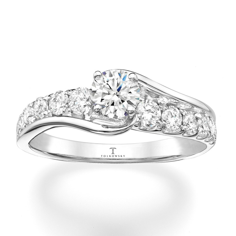 Kay Tolkowsky Engagement Ring 1 ct tw Diamonds 14K White Gold