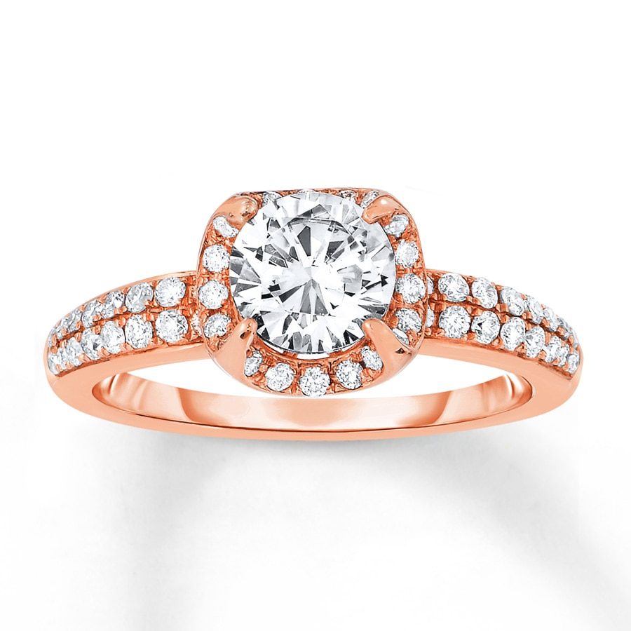 Kay Diamond Engagement Ring 1 ct tw Round cut 14K Rose Gold