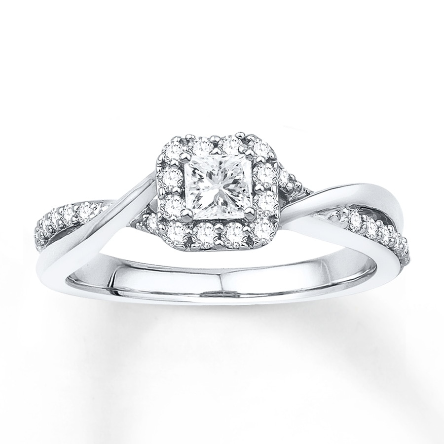 Wedding Rings Kay: Engagement Ring 1/2 Ct Tw Diamonds 10K White Gold