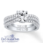 Leo Diamond Bridal Set 1 1/5 carats t.w. 14K White Gold
