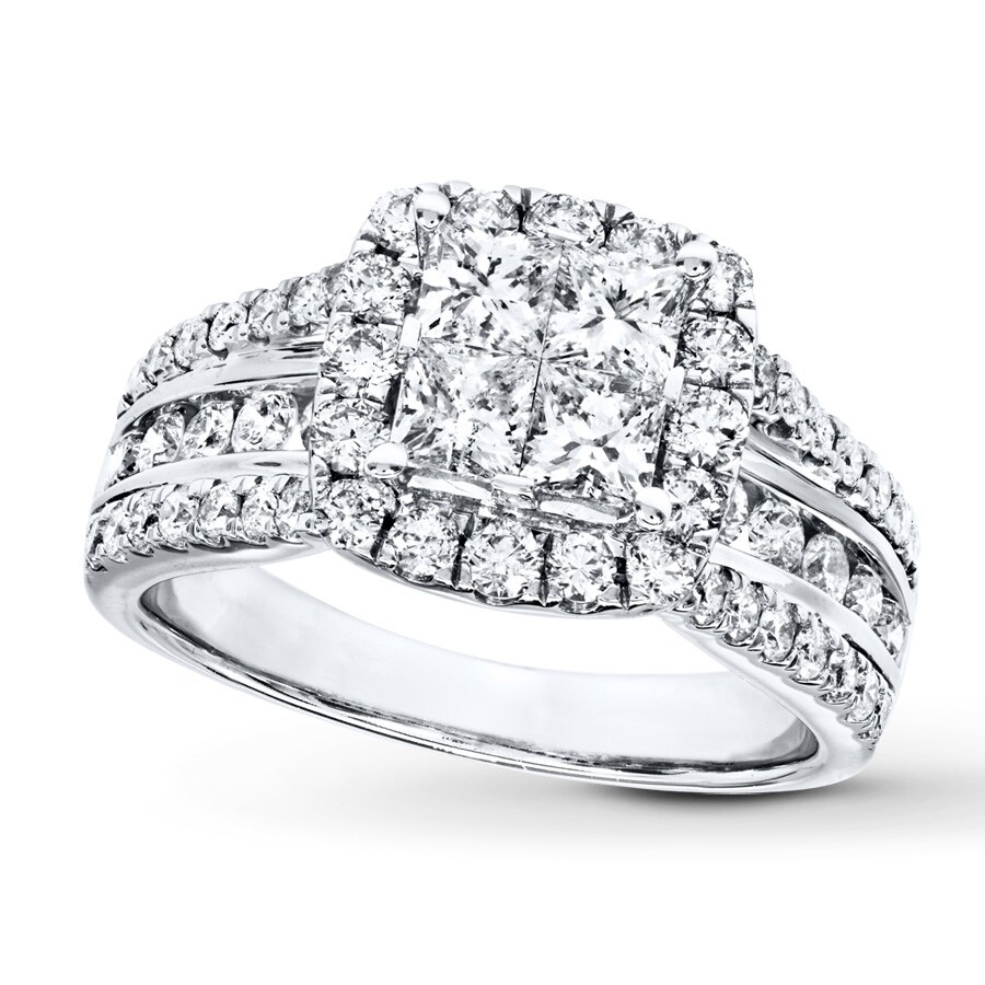 stone upon engagement rings white ring princess products a halo dimond diamond once gold