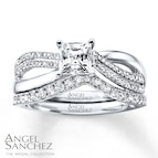 Angel Sanchez Bridal Set 1 ct tw Diamonds 14K White Gold