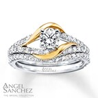 Angel Sanchez Bridal Set 1 ct tw Diamonds 14K Two-Tone Gold