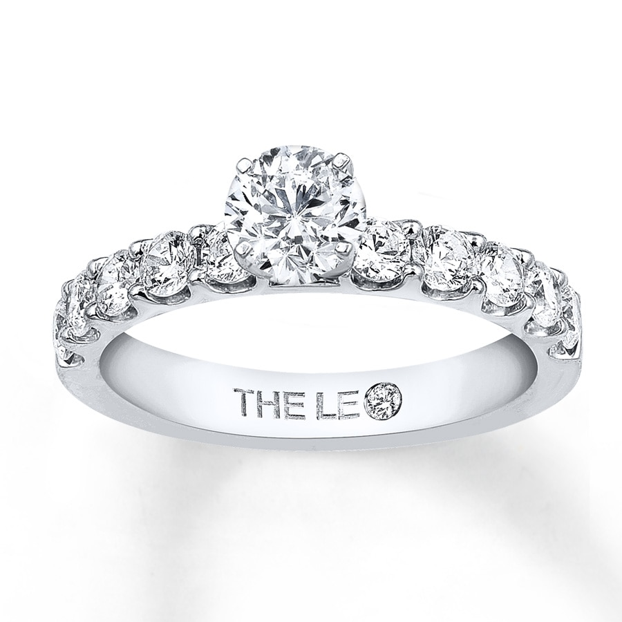 kay leo engagement ring 1 3 8 ct tw diamonds 14k white gold With leo wedding ring