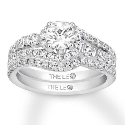 Leo Diamond Bridal Set 1-1/2 cts tw 14K White Gold