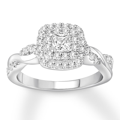 Diamond Engagement Ring 3/4 carat tw 14K White Gold