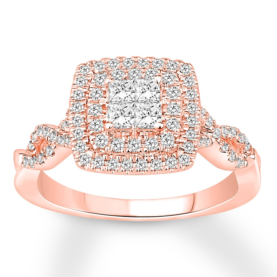 Diamond Engagement Ring 3/4 Carat Tw 14K Rose Gold