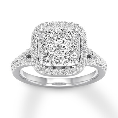 Diamond Engagement Ring 3/4 ct tw Round-cut 14K White Gold